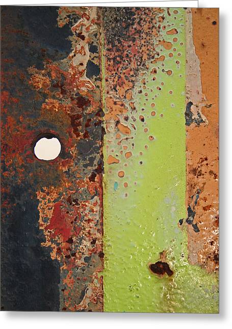 The Dividing Line Greeting Card by Camera Rustica Bill Kerr