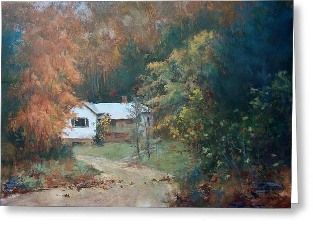 Old Home Place Paintings Greeting Cards - The Dixon Place Greeting Card by Ed Gowen
