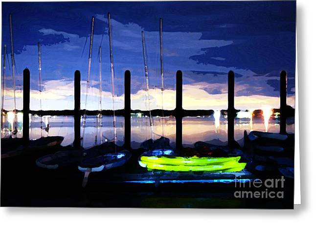 Sailing At Night Greeting Cards - The Dock on the Bay Greeting Card by Paul Ward