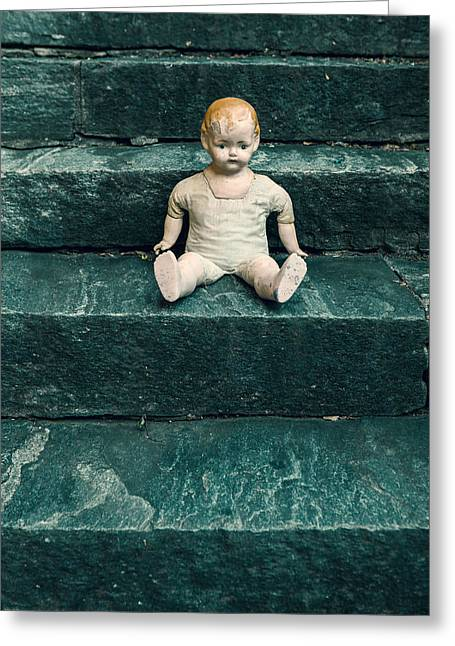 Staircase Greeting Cards - The Doll Greeting Card by Joana Kruse