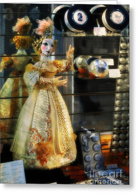 Gown Digital Art Greeting Cards - The Doll Salzburg Greeting Card by Mary Machare