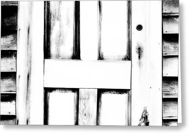 Abandoned Houses Greeting Cards - The Door Greeting Card by Bonnie Bruno