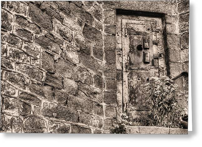 Hopelessness Greeting Cards - The Door to Nowhere  Greeting Card by JC Findley