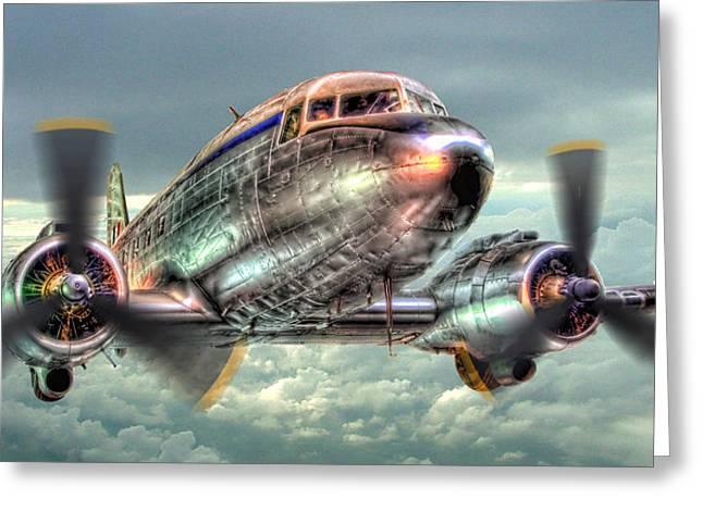 The Douglas C47 Dakota - Hdr Greeting Card by Colin J Williams Photography