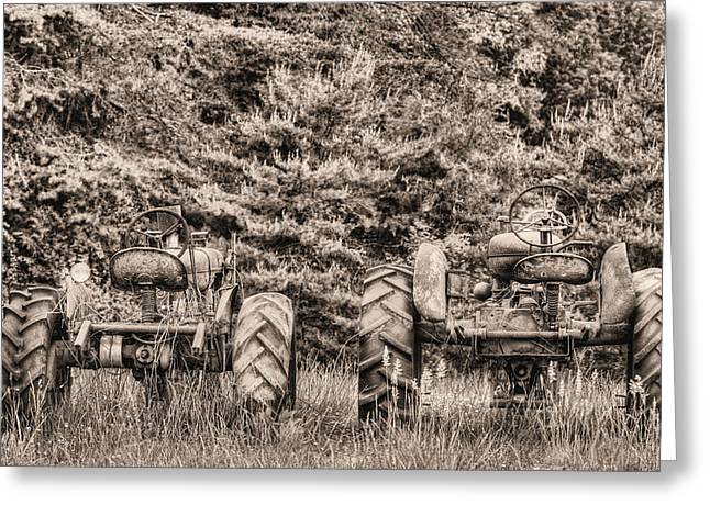 Fauquier County Virginia Greeting Cards - The Drag Race BW Greeting Card by JC Findley