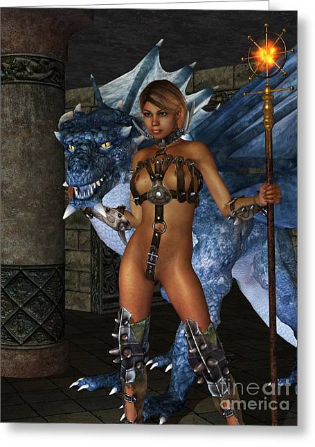 Dragon Lady Greeting Cards - The Dragon Princess Greeting Card by Alexander Butler