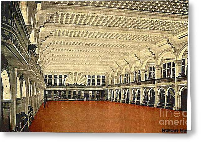 Amusements Greeting Cards - The Dreamland Ballroom At Coney Island 1905 Greeting Card by Dwight Goss
