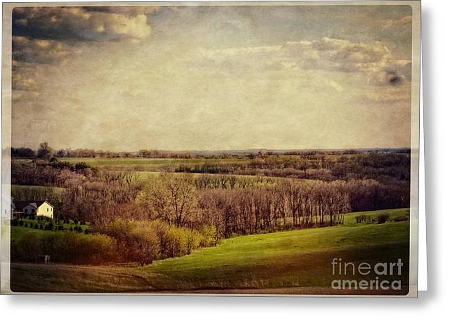 The Hills Greeting Cards - The Driftless Zone Greeting Card by Mary Machare