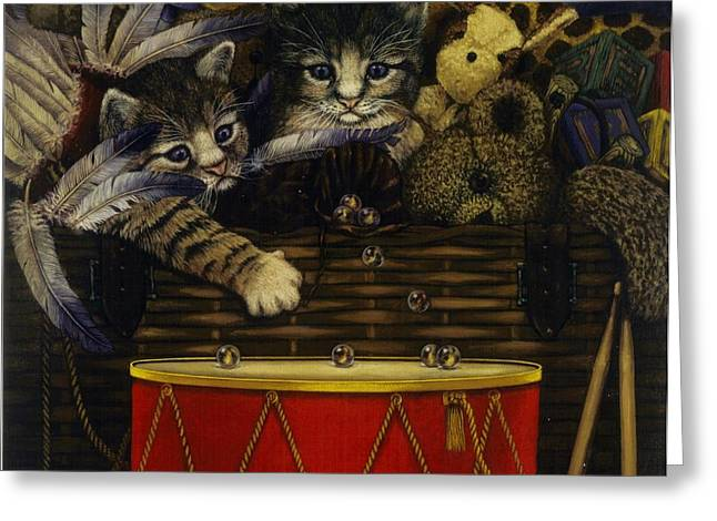 Steven Wood Greeting Cards - The Drum Greeting Card by Steven Wood