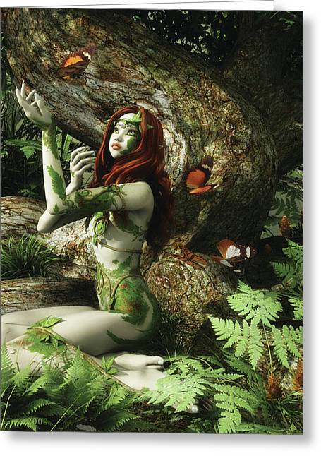 Melissa Krauss Greeting Cards - The Dryads Daughter Greeting Card by Melissa Krauss