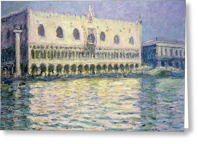 Palace Ducal Greeting Cards - The Ducal Palace Greeting Card by Claude Monet