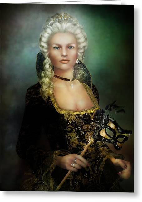 Ball Gown Greeting Cards - The Duchess Greeting Card by Karen H