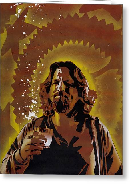 Spray Paint Art Greeting Cards - The Dude Greeting Card by Iosua Tai Taeoalii