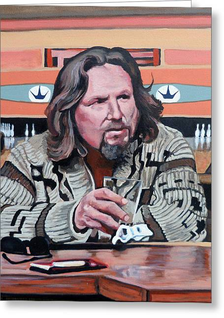 Jeff Greeting Cards - The Dude Greeting Card by Tom Roderick