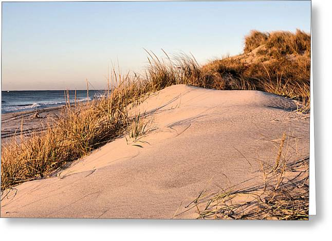 York Beach Greeting Cards - The Dunes of Jones Beach Greeting Card by JC Findley