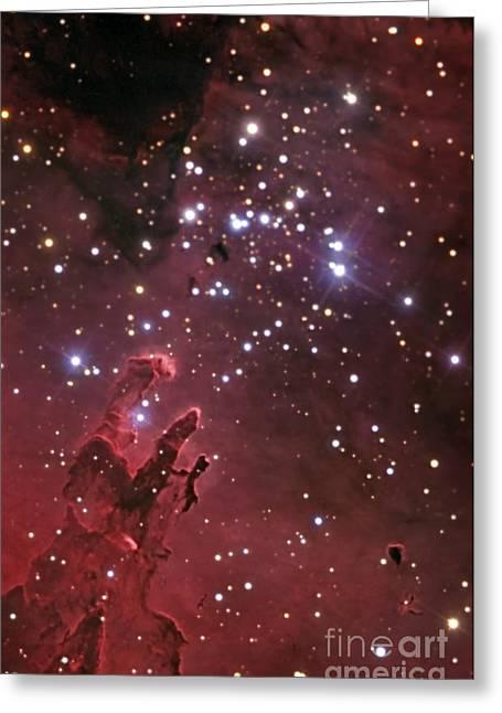 Celestial Pillars.celestial Greeting Cards - The Eagle Nebula Greeting Card by R Jay GaBany