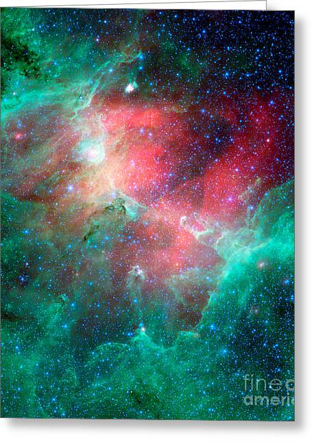 Colorful Cloud Formations Greeting Cards - The Eagle Nebula Greeting Card by Stocktrek Images
