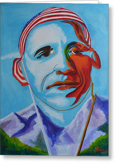 Barack Greeting Cards - The Eagle Soars Greeting Card by David G Wilson