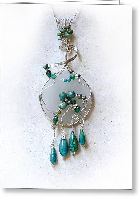 Sculpture Jewelry Greeting Cards - The Earth and Sky and Sea Greeting Card by Rhonda Chase