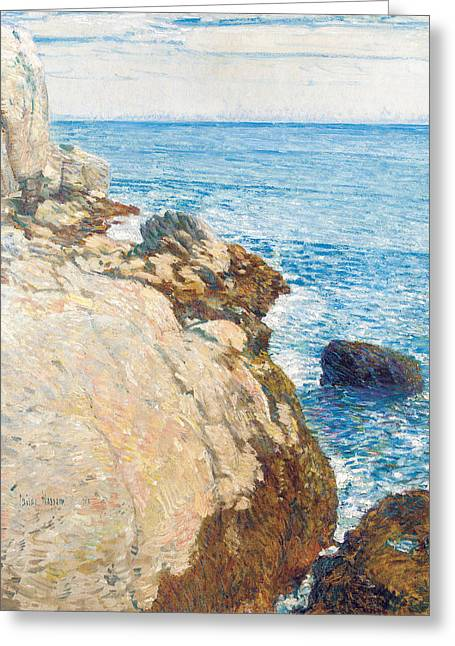Coastal Maine Greeting Cards - The East Headland Greeting Card by Childe Hassam