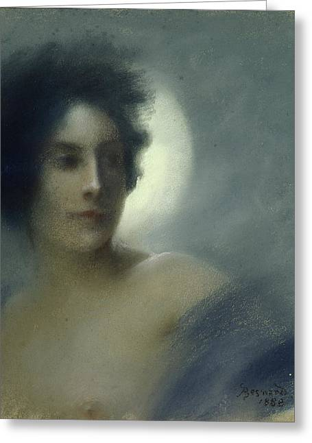 L.a. Woman Greeting Cards - The Eclipse Greeting Card by Paul Albert Besnard