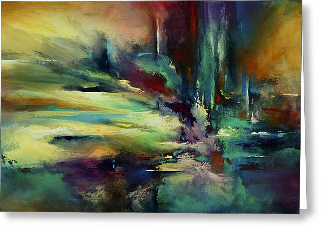 Hard Edged Greeting Cards - The Edge Greeting Card by Michael Lang