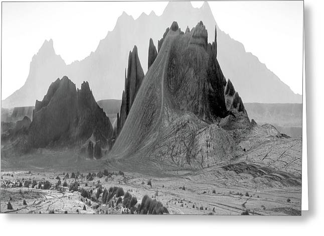 Mountain Landscape Greeting Cards - The Edge Greeting Card by Mike McGlothlen