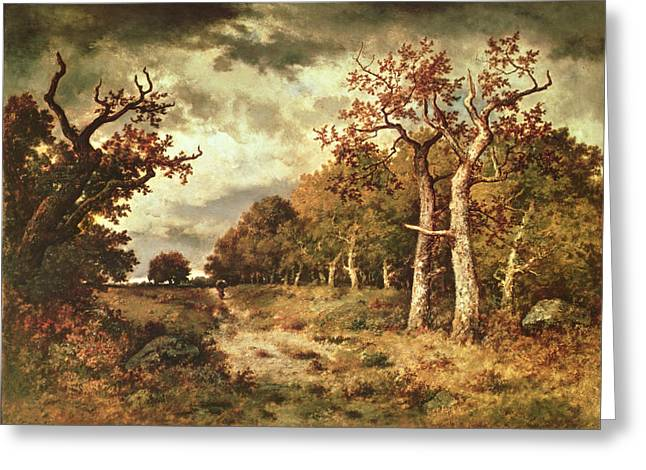 Pena Greeting Cards - The Edge of the Forest Greeting Card by Narcisse Virgile Diaz de la Pena