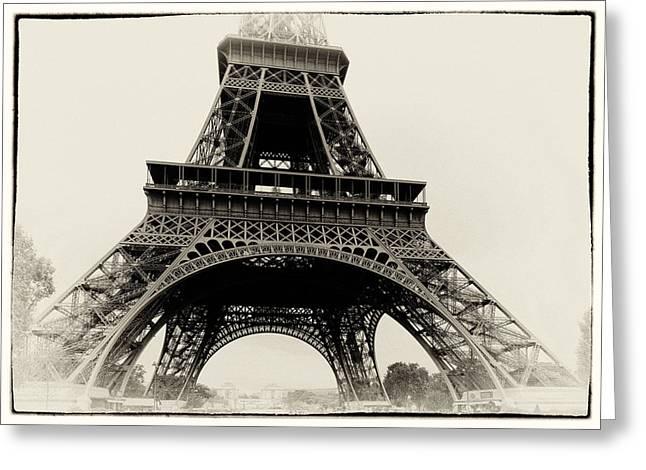 Eifel-tower Greeting Cards - The Eiffel Tower Greeting Card by Hakon Soreide
