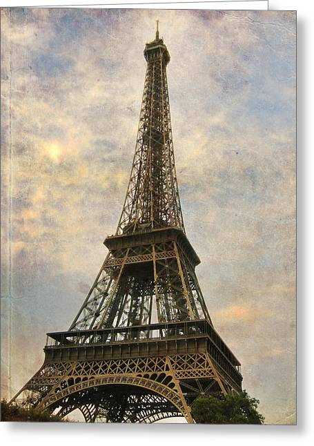 Europe Greeting Cards - The Eiffel Tower Greeting Card by Laurie Search