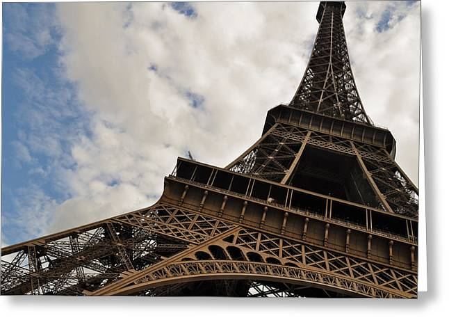 The Eiffel Tower Polarized Greeting Card by Mary Machare