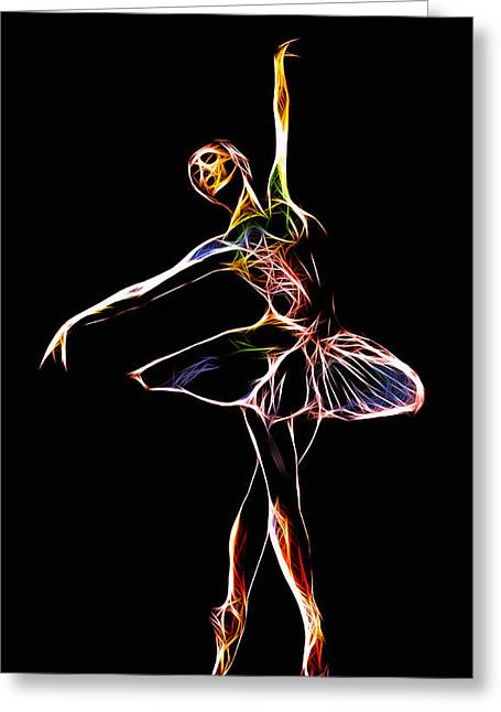 Ballet Dancers Greeting Cards - The  Electric Diva Greeting Card by Stefan Kuhn