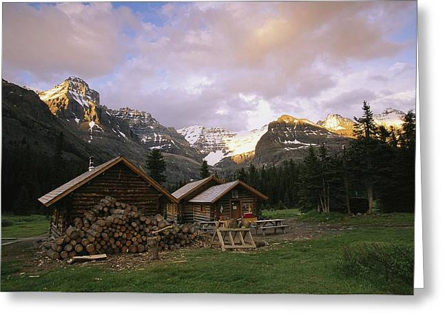 The Elizabeth Parker Hut, A Log Cabin Greeting Card by Michael Melford