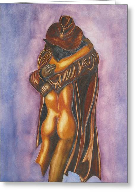The Embrace Greeting Card by Emmanuel Turner