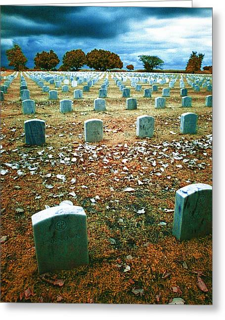 Headstones Greeting Cards - The End Greeting Card by Skip Nall
