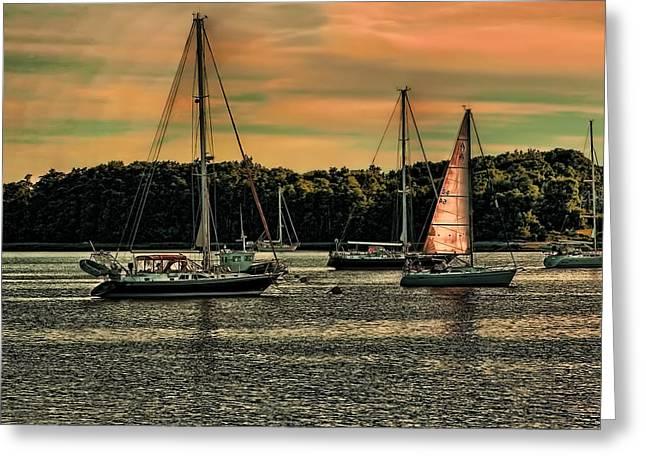 Ocean Scenes Digital Art Greeting Cards - The endless summer Greeting Card by Tom Prendergast