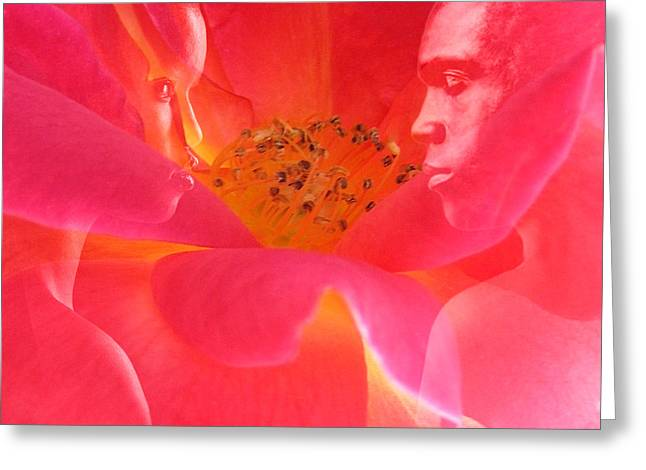 Floral Digital Art Digital Art Greeting Cards - The Energy of Us Greeting Card by Torie Tiffany