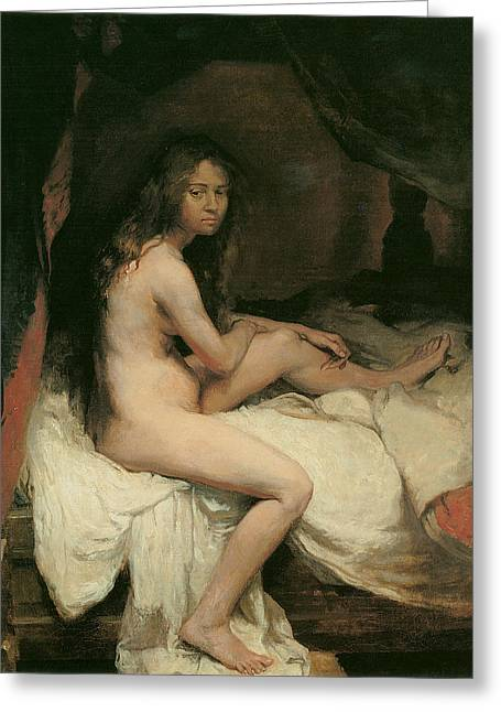 Orpen Greeting Cards - The English Nude Greeting Card by William Orpen