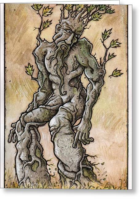 Ent Greeting Cards - The Ent Greeting Card by Russell Horsfield