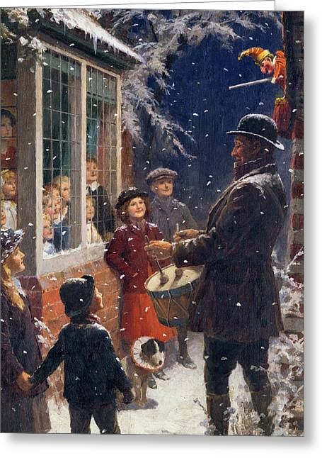Lane Greeting Cards - The Entertainer  Greeting Card by Percy Tarrant