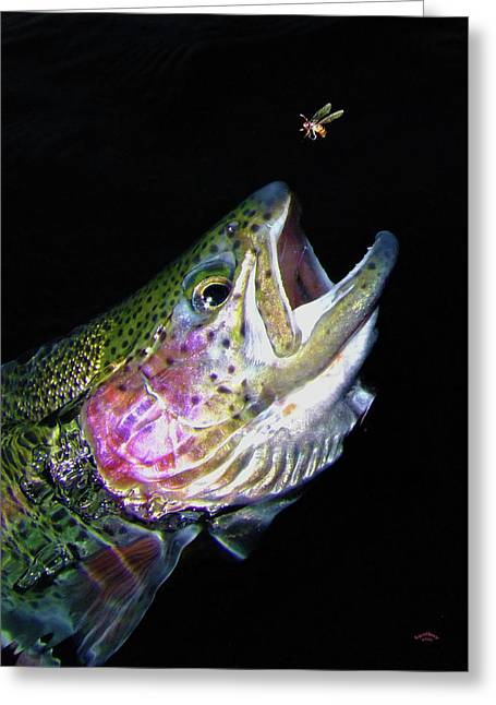 Trout Fishing Greeting Cards - The Entomologist Greeting Card by Brian Pelkey