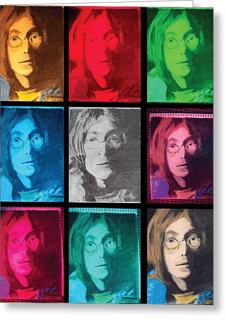 Colorful Photos Pastels Greeting Cards - The Essence of Light- John Lennon Greeting Card by Jimi Bush