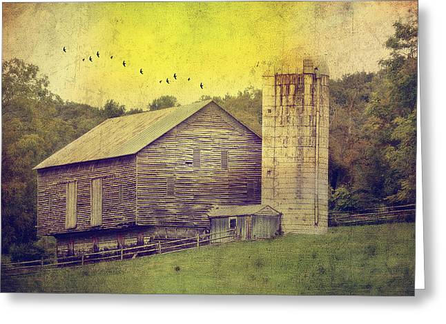 Barn Yard Photographs Greeting Cards - The Establishment Greeting Card by Kathy Jennings