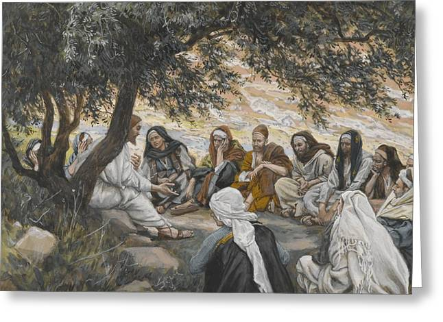 Tissot Greeting Cards - The Exhortation to the Apostles Greeting Card by Tissot