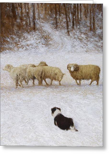 Snow Scene Landscape Greeting Cards - The Eye Greeting Card by Mitch Kolbe