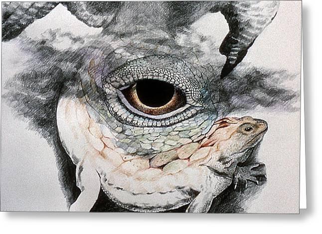The Eye of Power Greeting Card by Kyra Belan