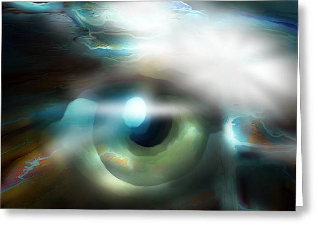 The Eye Of The Storm Greeting Card by Bob Salo
