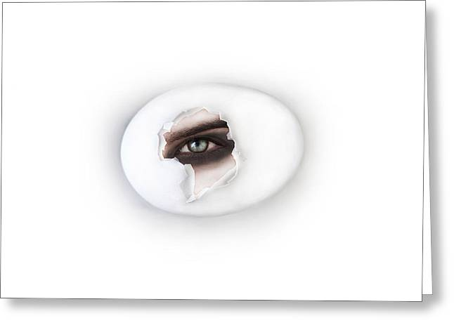 30-55 Years Old Greeting Cards - The Eye Greeting Card by Yosi Cupano