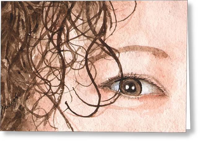 Protrait Greeting Cards - The Eyes Have It - Stacia Greeting Card by Sam Sidders
