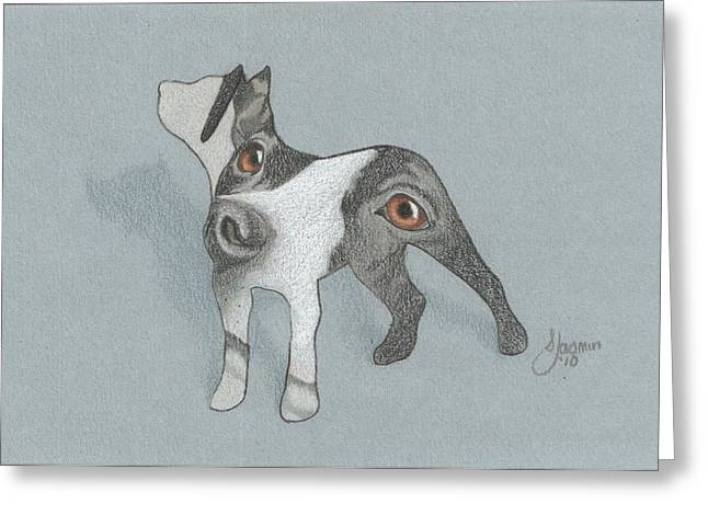 The Eyes Have It Greeting Card by Stacey Jasmin